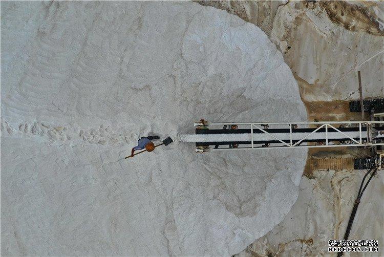 唐山:收获海盐
